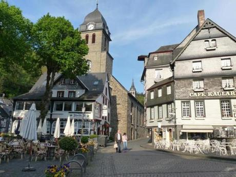 The old town in Monschau, famous for its mustard mill.